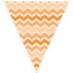 orange zig-zag party decoration flag