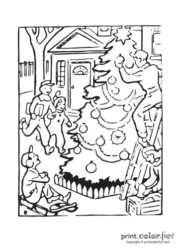 Outdoor-Christmas-scene