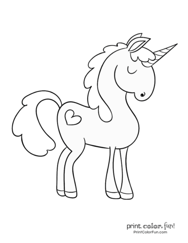 Cute Easy Unicorn Coloring Pages : unicorn, coloring, pages, Magical, Unicorn, Coloring, Pages:, Ultimate, (free!), Printable, Collection, Print., Color.
