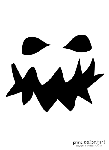 Pumpkin-carving-stencil--grouchy-ghoul