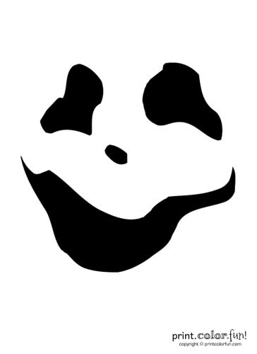 Pumpkin-carving-stencil--wispy-ghoul