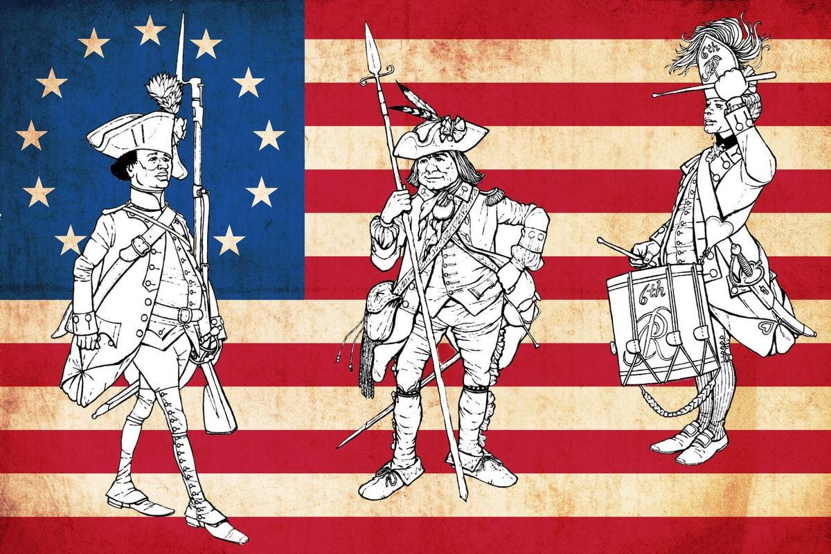 Revolutionary War Solder Coloring Pages 11 Historic