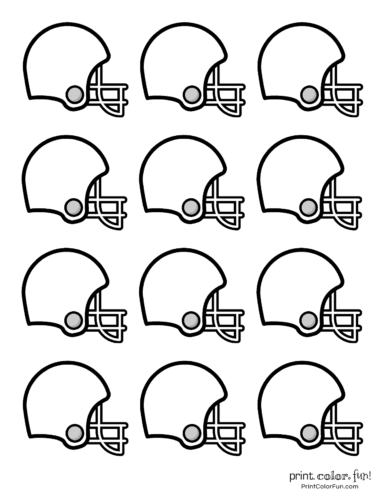 Free football coloring pages and party printables