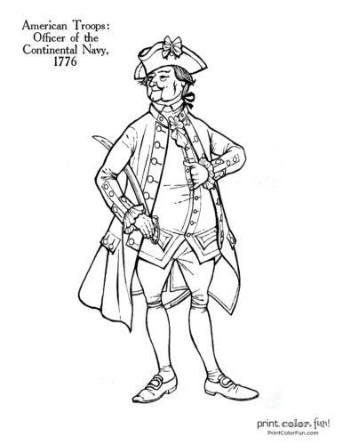 american revolution coloring pages # 23