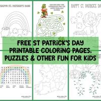 14 free St Patrick's day printable coloring pages, puzzles & other fun for kids