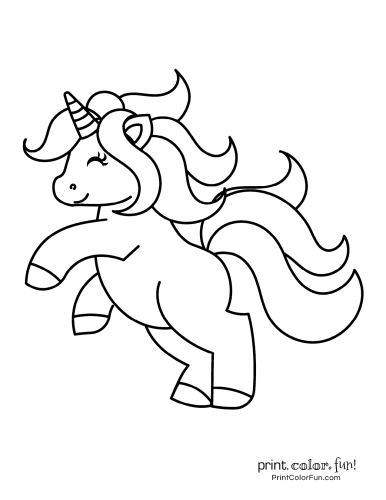 Unicorn coloring pages free8