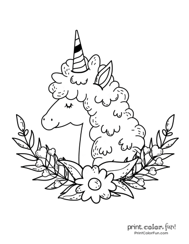 Unicorn coloring pages from PrintColorFun com (9)