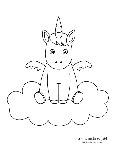 Unicorn printable coloring pages11