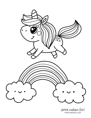 Unicorn printable coloring pages5