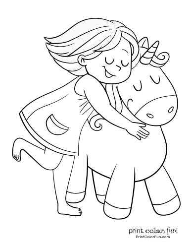 Unicorn printable coloring pages7