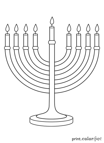 Menorah coloring page - Print. Color. Fun!