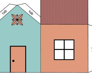 house cutout craft