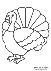 Thanksgiving turkey coloring coloring page - Print. Color ...