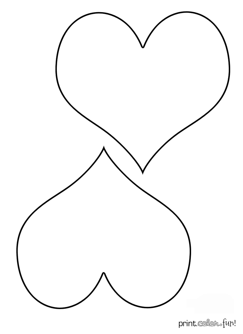 Two hearts coloring page Print
