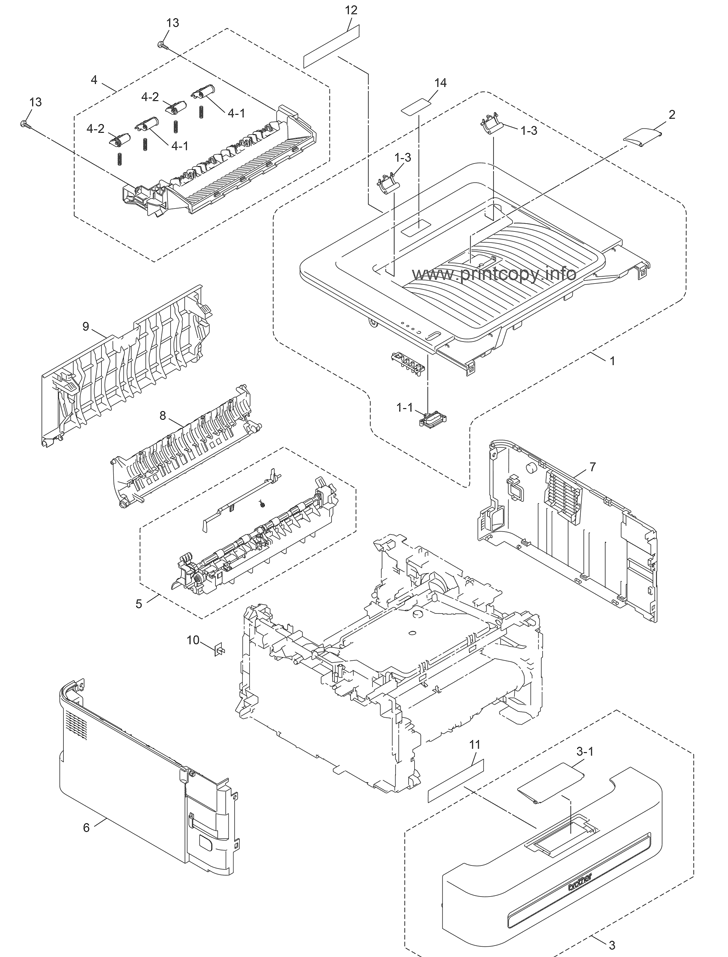 Parts Catalog > Brother > HL2240 > page 8