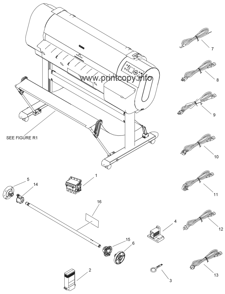 Parts Catalog > Canon > iPF710 > page 1