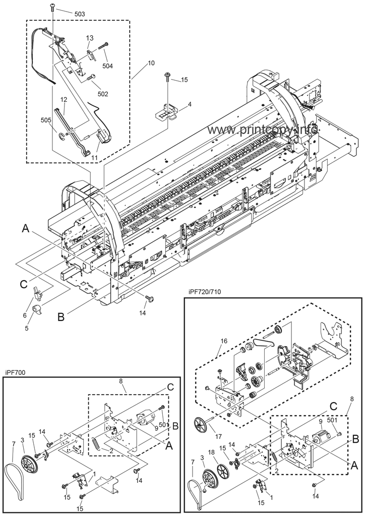 Parts Catalog > Canon > iPF710 > page 7