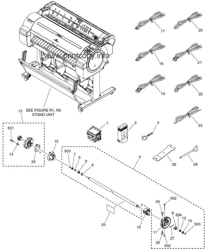 Parts Catalog > Canon > iPF770 > page 1