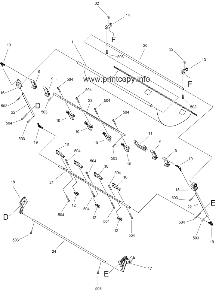 Parts Catalog > Canon > iPF770 > page 17