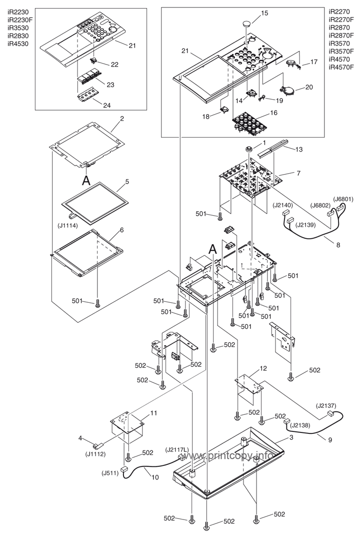 Parts Catalog > Canon > iR3570 > page 10