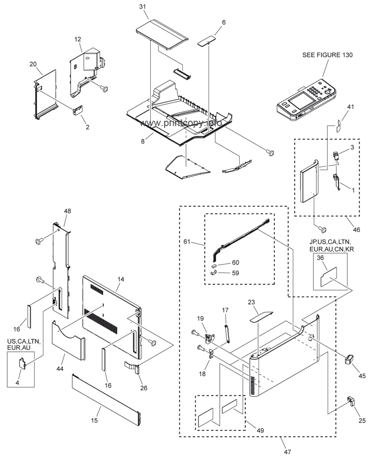 Parts Catalog > Canon > iR Advance C2020i > page 1