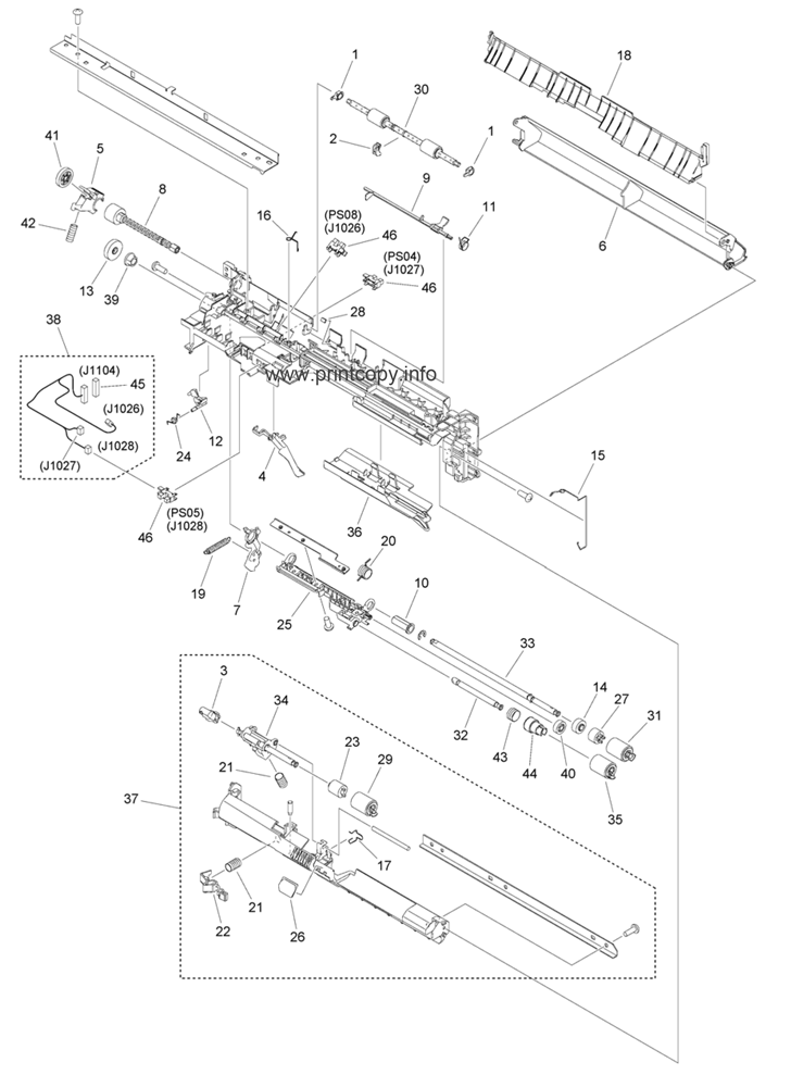 Parts Catalog > Canon > iR Advance C3325i > page 35