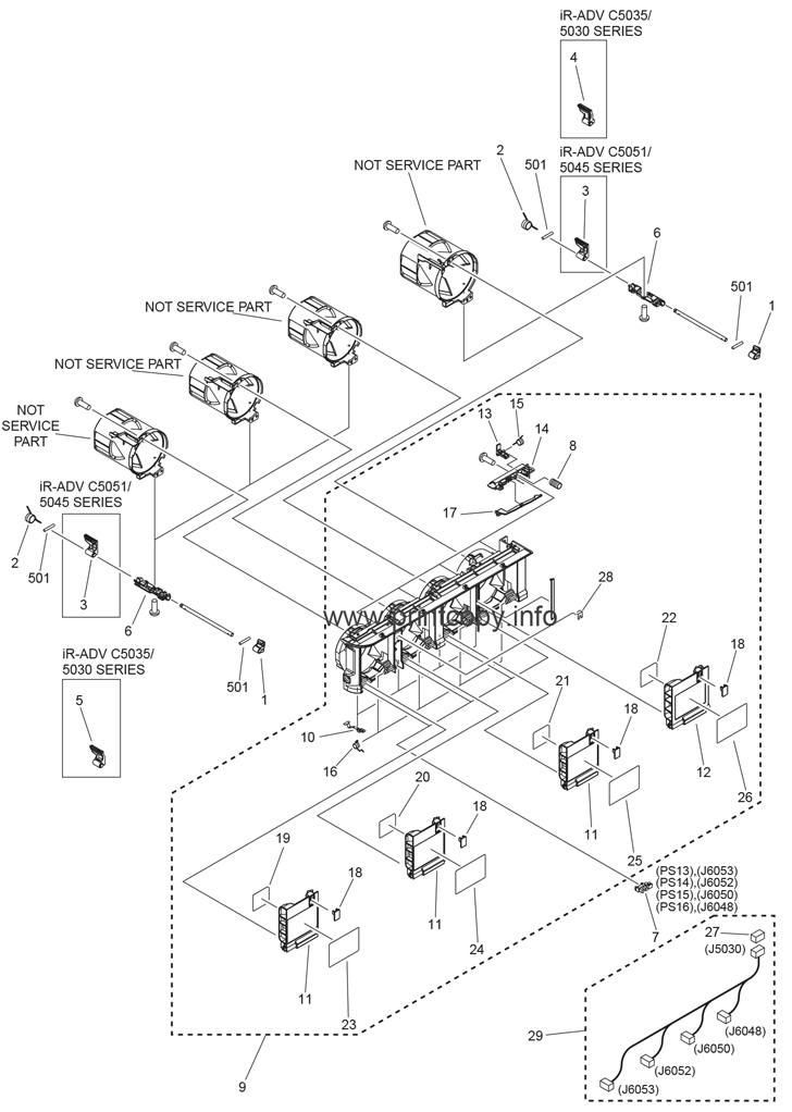 Parts Catalog > Canon > iR Advance C5051F > page 47