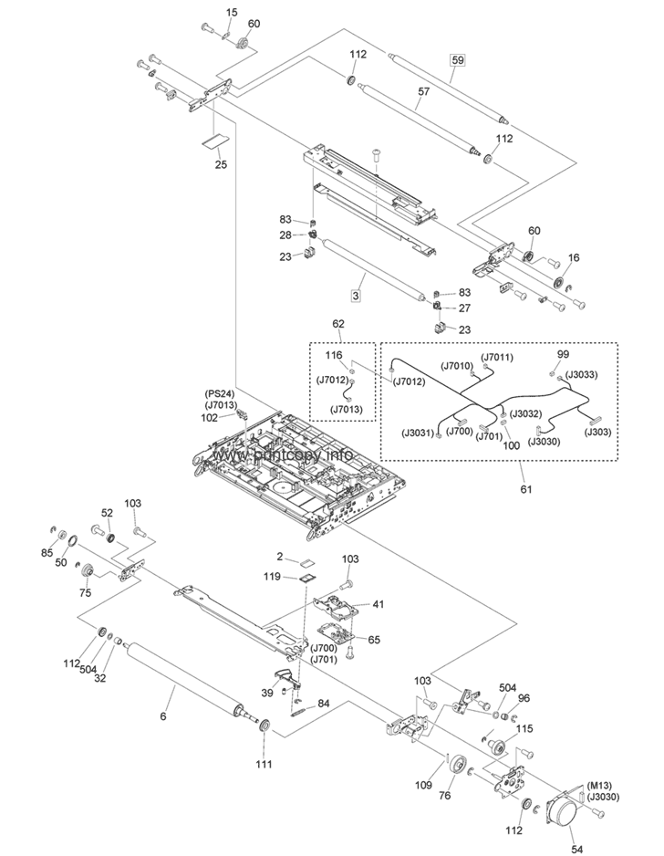 Parts Catalog > Canon > iR Advance C5550i > page 62