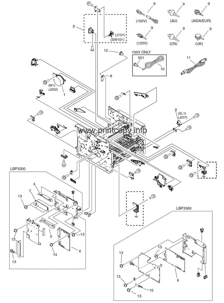 Parts Catalog > Canon > LBP3300 > page 5