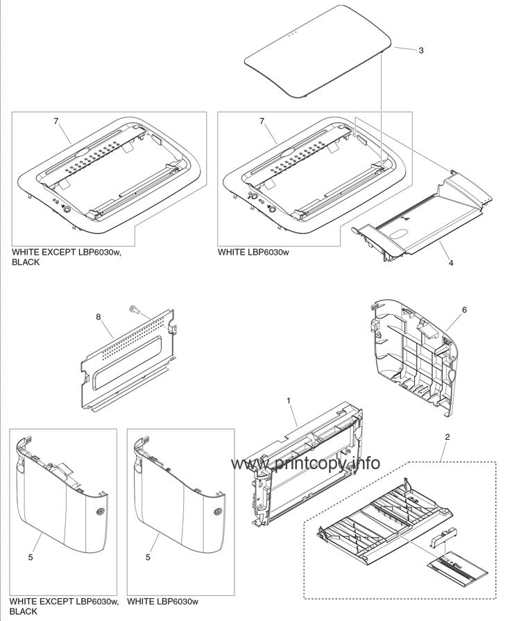 Parts Catalog > Canon > imageCLASS LBP6030w > page 1