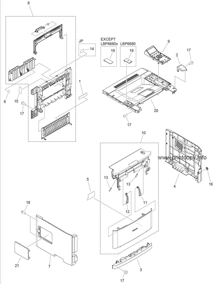Parts Catalog > Canon > i-SENSYS LBP6670dn > page 1