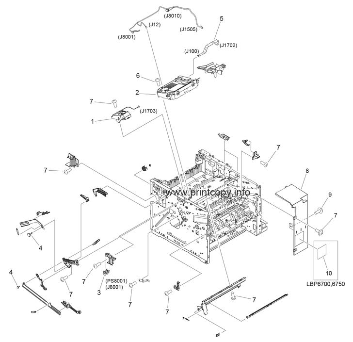 Parts Catalog > Canon > LBP6750dn > page 2