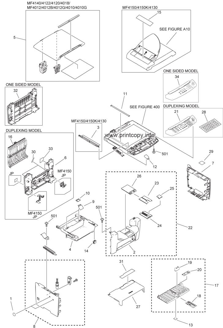 Parts Catalog > Canon > Satera MF4010 > page 1