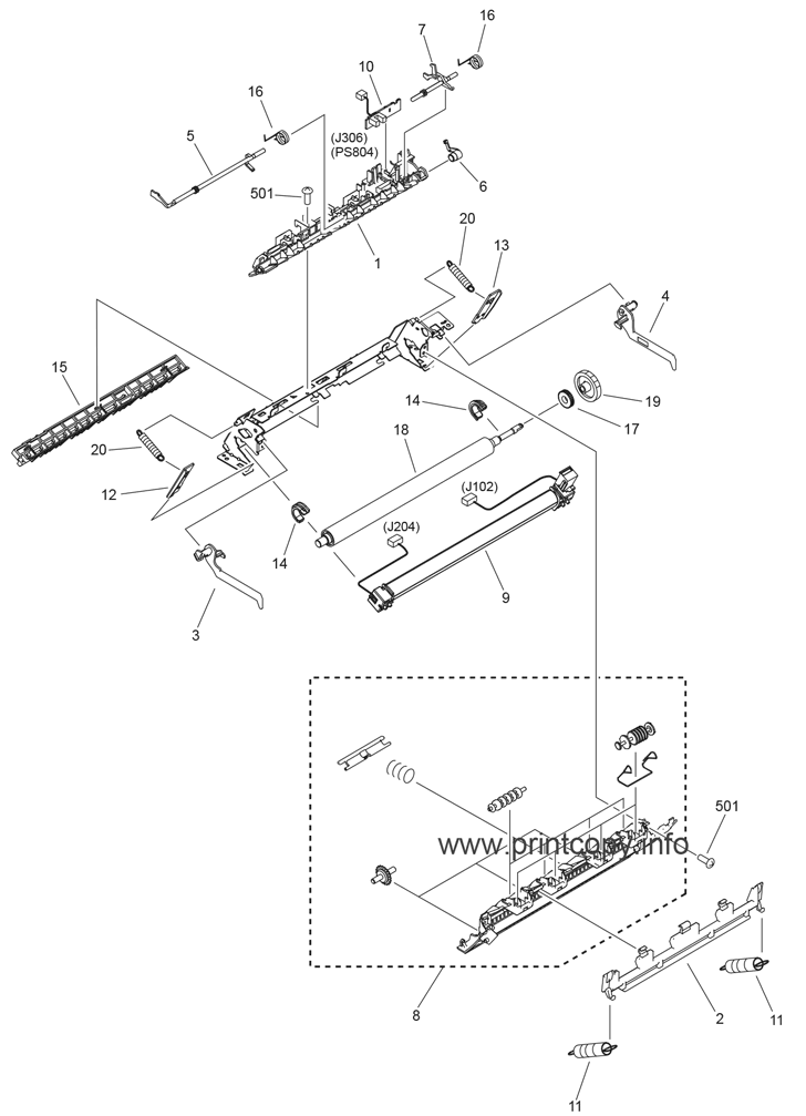 Parts Catalog > Canon > imageCLASS MF4370dn > page 16