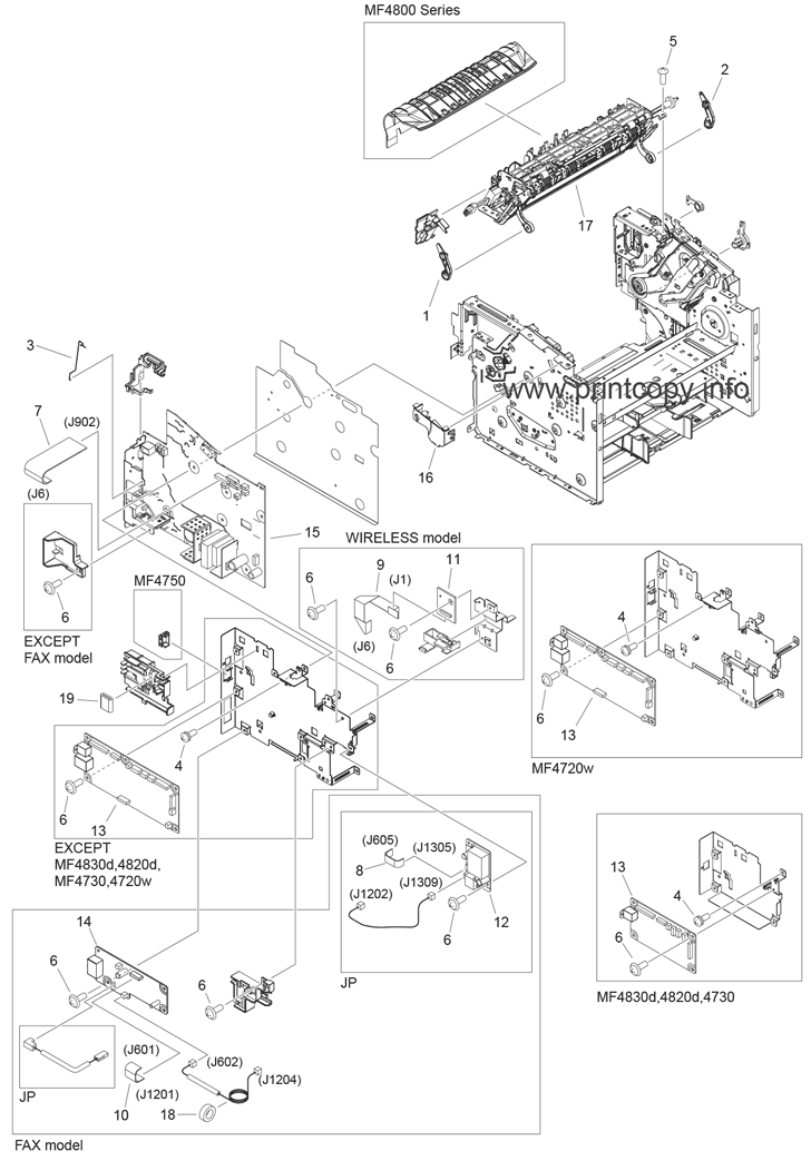 Parts Catalog > Canon > imageCLASS MF4770n > page 5