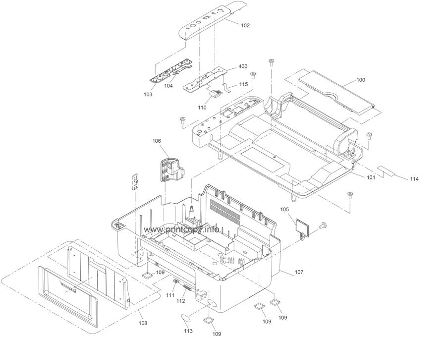 Parts Catalog > Epson > Stylus CX3810 > page 1