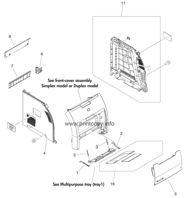 Parts Catalog > HP > Color LaserJet 3600 > page 1