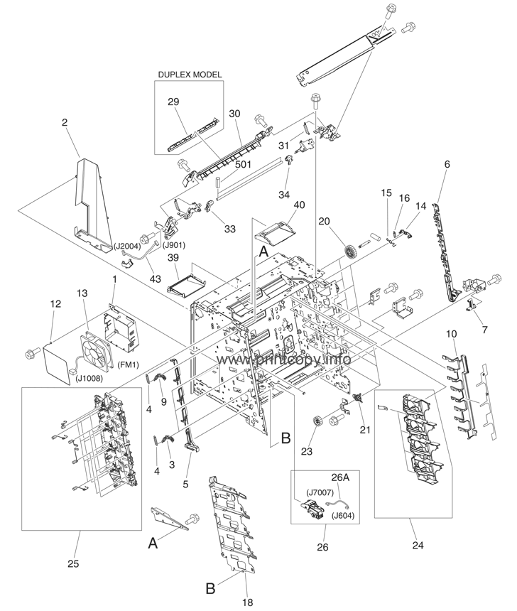 Parts Catalog > HP > Color LaserJet 3800 > page 5