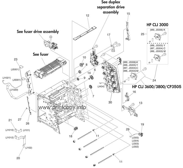 Parts Catalog > HP > Color LaserJet 3800 > page 6
