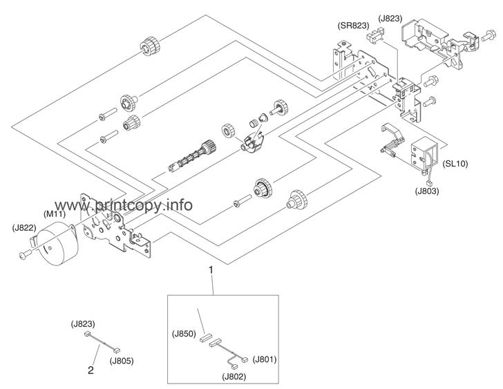 Parts Catalog > HP > Color LaserJet 3800 > page 12