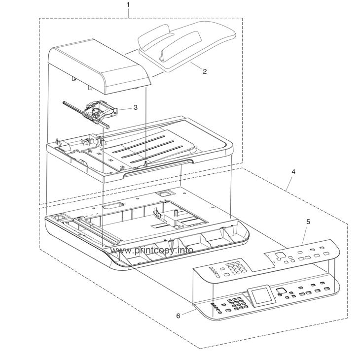 Parts Catalog > HP > Color LaserJet CM1312nfi MFP > page 2
