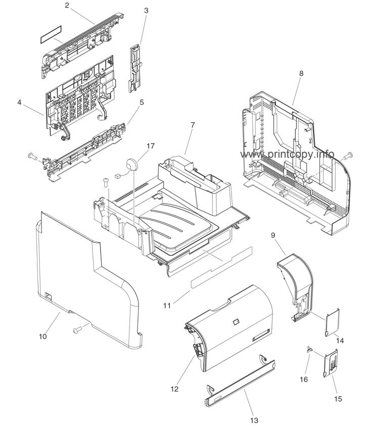 Parts Catalog > HP > Color LaserJet CM1312nfi MFP > page 4