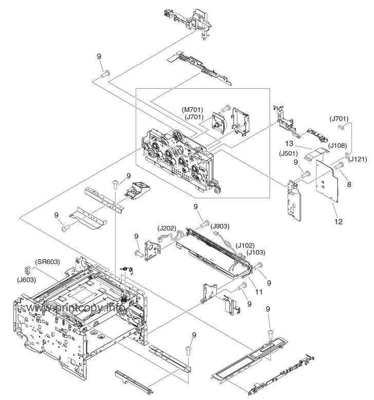 Parts Catalog > HP > Color LaserJet CM1312 MFP > page 6