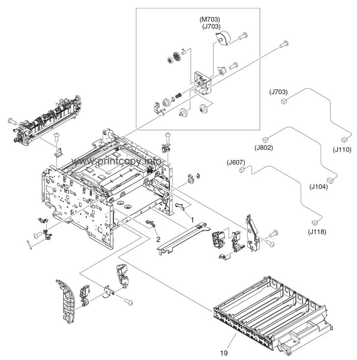 Parts Catalog > HP > Color LaserJet CM1312nfi MFP > page 8