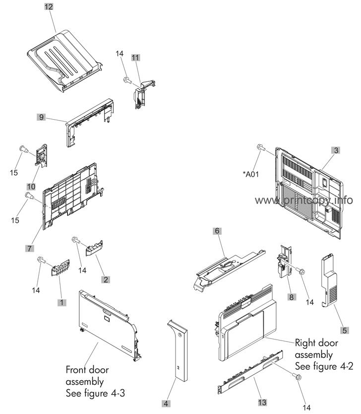 Parts Catalog > HP > Color LaserJet Enterprise CM4540 MFP
