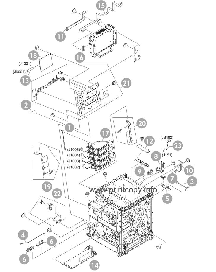 Parts Catalog > HP > Color LaserJet CM4730 MFP > page 8