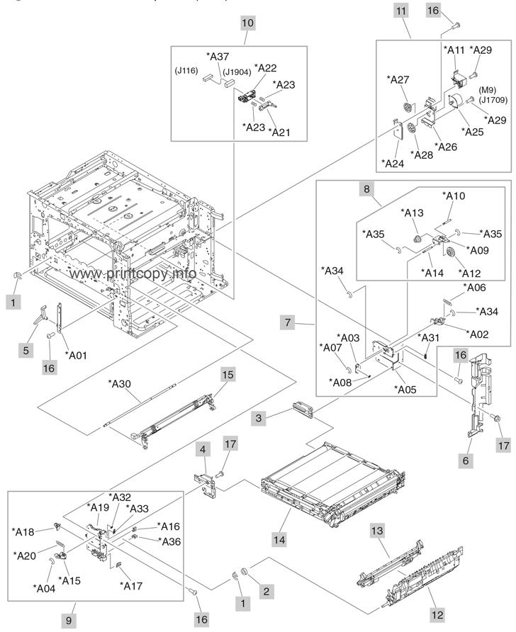 Parts Catalog > HP > Color LaserJet CM6040 MFP > page 6