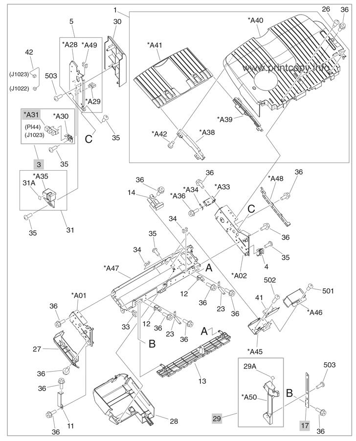 Parts Catalog > HP > Color LaserJet CM6040 MFP > page 44
