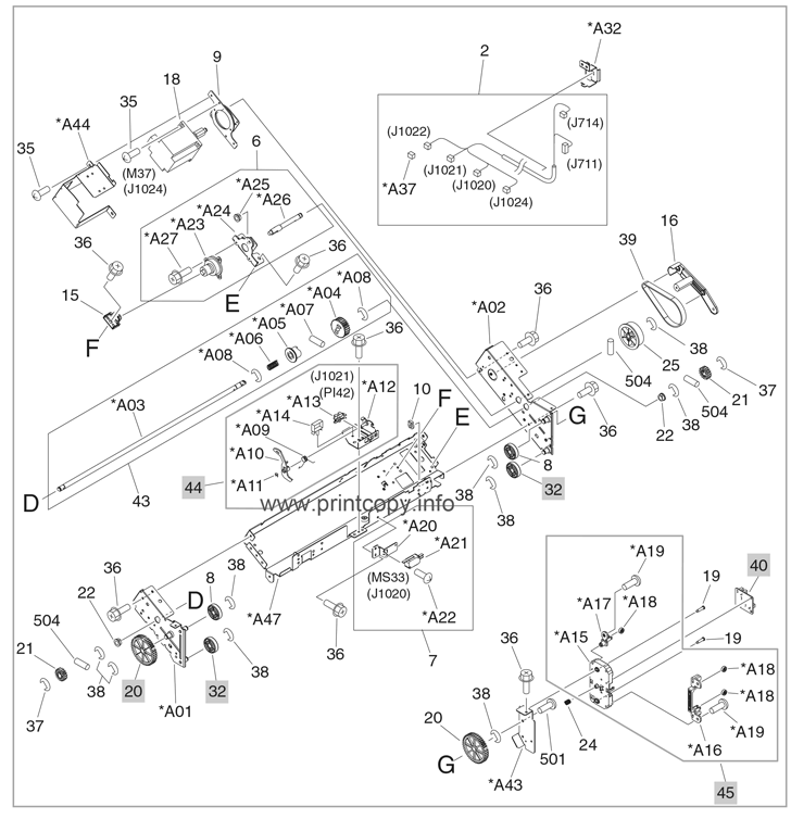 Parts Catalog > HP > Color LaserJet CM6040 MFP > page 45