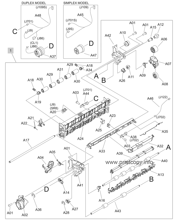 Parts Catalog > HP > Color LaserJet CP3525 > page 11